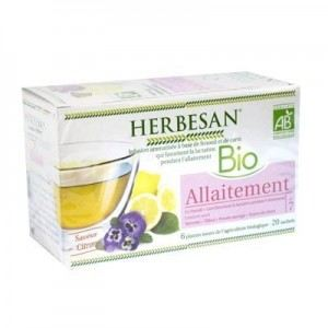 Herbesan Bio infusion allaitement saveur citron 20 sachets