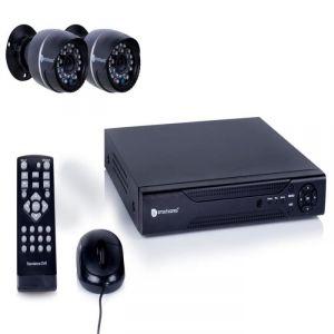 Kit de surveillance filaire avec enregistreur 4 canaux 500Gb de stockage et 2 caméras bullet