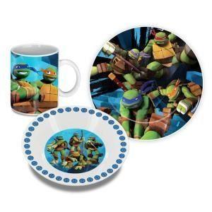 Set petit-déjeuner 3 pièces Tortues Ninja