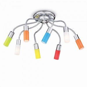 plafonnier ecoflex 8 ampoules en m tal et verre comparer avec. Black Bedroom Furniture Sets. Home Design Ideas