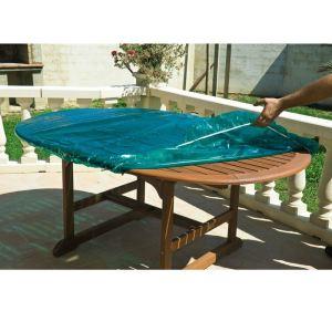 Maillesac Housse de protection luxe pour table de jardin ronde Ø120 cm -  Comparer avec Touslesprix.com