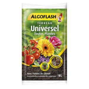 Algoflash Terreau universel toutes plantes 6 L
