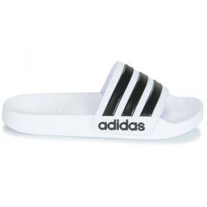 Adidas Adilette Cloudfoam, Chaussures de Plage & Piscine homme - Blanc (Ftwbla/Negbas 000), 48 1/2 EU