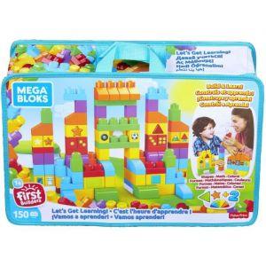 Mega Bloks Jeu de construction c'est l'heure d'apprendre, 150 briques