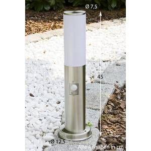 Hofstein Borne d'éclairage Caserta Acier inoxydable, 1 lumière - Moderne/Design - Extérieur - Caserta