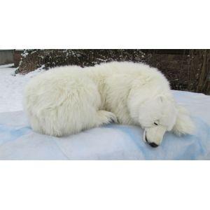Anima Peluche Ours polaire dormeur 105 cm