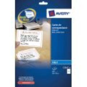 Avery-Zweckform 75 cartes de correspondance (99 x 210 mm)