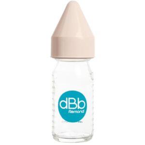 dBb Remond Biberon Régul'air en verre 110 ml avec tétine nouveau-né en caoutchouc