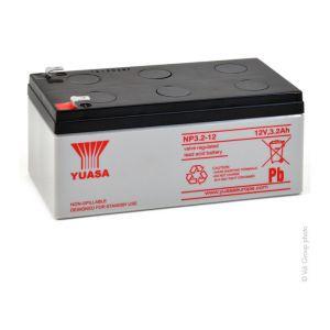 Yuasa Batterie plomb AGM NP3.2-12 12V 3.2Ah F4.8