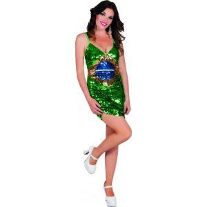Déguisement robe Brésil femme