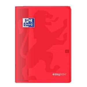 Oxford Cahier Easybook agrafé - 21 x 29,7 cm - 96p seyès - 90g - Rouge
