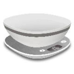 Terraillon Macaron Givrée + Bol - Balance de cuisine électronique 5 Kg avec bol