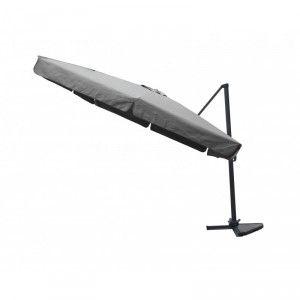 Parasol déporté carré avec flap