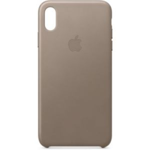 Apple Coque iPhone XS Max cuir Taupe