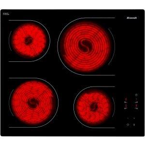 Brandt TV1220 - Table de cuisson vitrocéramique 4 foyers