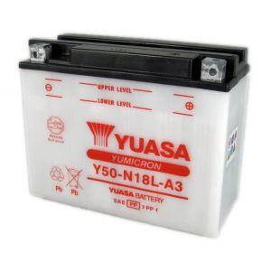 Yuasa BATTERIE Y50-N18L-A3 L206mm W91mm H164mm Batterie identique à l'origine convient à tous types de 2 roues et quad. Les batteries reconnu pour sa qualité de produit et une durée de vie exceptionnelle. Choisir c'est opter pour la
