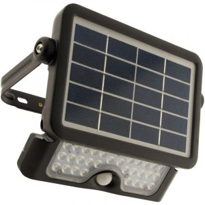 Elexity Projecteur LED 5W avec panneau solaire et détecteur intégrés
