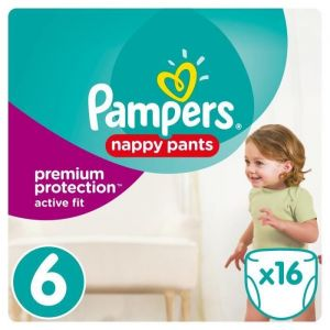Pampers Premium Active Fit Pants taille 6 (15 kg+) - 16 couches-culottes