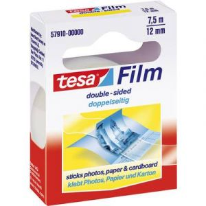 Tesa Ruban adh sif double face, transparent, 12 mm x 7,5 m