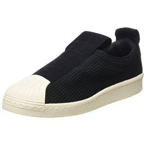 Adidas Superstar Bw3S Slipon W, Chaussures de Fitness Femme, Multicolore-Noir/Blanc Cassé (Core Black/Core Black/Off White), 38 2/3 EU