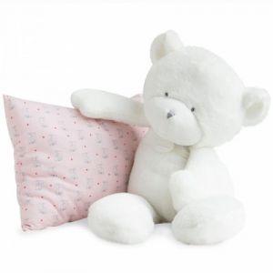 Doudou et Compagnie Peluche Le doudou Doudou ours blanc 50 cm