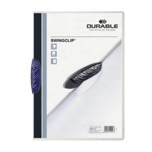 Durable 2260-07 - Chemise à clip SWINGCLIP, clip bleu foncé, A4