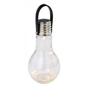 Globo LED solaire extérieur pendentif ampoules design craquelé verre patio plafond suspendu lampe 33978-12