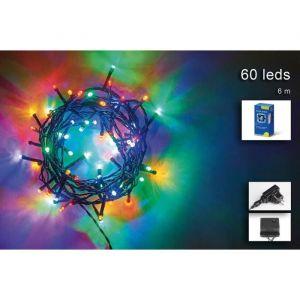 Guirlande de Noël 60 LED extérieure - 5 mm x 3 m - Multicolore