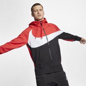 Nike Sweatà capuche en molleton entièrement zippé Sportswear pour Homme - Rouge - Couleur Rouge - Taille L