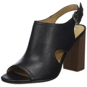 Geox D Audalies High Sandalo B, Sandales Bout Ouvert Femme, Noir (Black), 40 EU