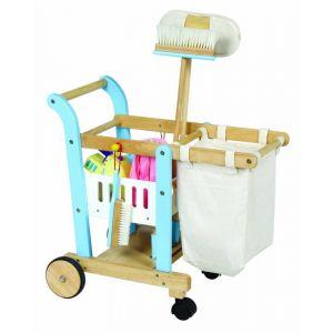 Chariot de nettoyage avec accessoires