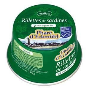 Phare d'Eckmül Rillettes de sardines aux algues bios - 120 gr