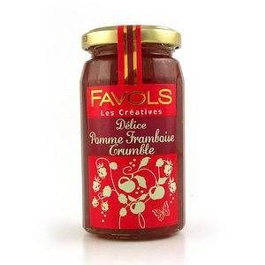 Favols Confiture Délice Pomme Framboise Crumble - Les créatives - 260 gr