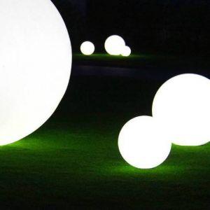 Slide Globo Geoline - Out lampe pour l`extérieur avec piquet en inox, diamètre 300 mm