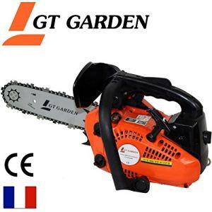 GT Garden Tronconneuse elagueuse thermique 25 cm3 1.2 CV guide 26 cm