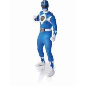 Déguisement adulte 2nde peau Power Rangers Bleu taille M