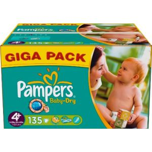 Pampers Baby Dry taille 4+ Maxi+ (9-20 kg) - Giga pack x 135 couches