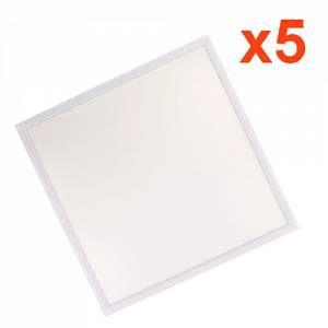 Dalle LED 60x60 Slim 48W BLANC (Pack de 5) - couleur eclairage : Blanc Neutre 4000K - 5500K