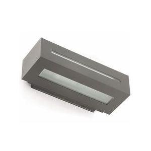 Applique extérieure West 1 en fonte d'aluminium et verre 15 W