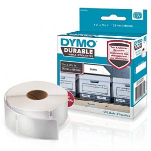 Dymo Durable Labels 25mm x 89mm white 1x 100 pcs.