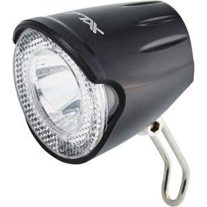 XLC Lampe avant LED - Éclairage vélo - 20 Lux noir/transparent Lampes dynamo