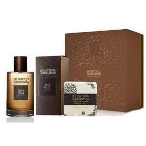 Laurence Dumont Les Senteurs Gourmandes : Black Oud - Coffret eau de parfum et savon parfumé