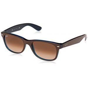 Ray-Ban New wayfarer color mix Sunglasses Verres: Rose, Monture: Marron - RB2132 6310A5 55-18