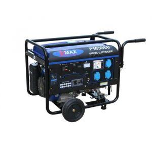 Power maxx Groupe électrogène 4500 W 230 V - Moteur essence 4 temps - Puissance : 4500 W / 5,4 KVa - Autonomie : 12 h / 25 L - Carburant : SP98 - Sortie : 230 V - Moteur : 13 CV