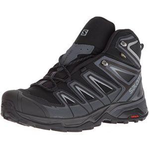 Salomon X Ultra 3 Mid GTX, Chaussures de Randonnée Hautes Homme, Noir (Black/India Ink/Monument), 42 EU