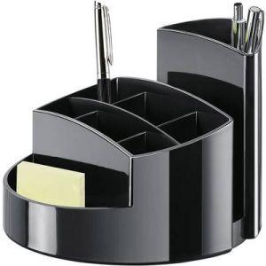 Han 17460-13 - Pot à crayons RONDO, 9 compartiments, en PS, coloris noir