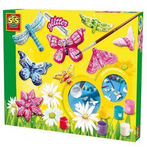 Ses Creative Kit de moulage en plâtre : Papillons scintillants