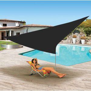 Ose Voile d'ombrage triangulaire 3.6x3.6x3.6 m - Noir - 3.6x3.6x3.6 m