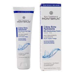 Montbrun Eau Thermale - Crème riche hydratante Visage Bio