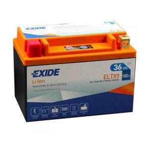 Exide Batterie moto YTX9-BS Lithium Li-ion 12V 3AH 180A ELTX9 YTX7A-BS